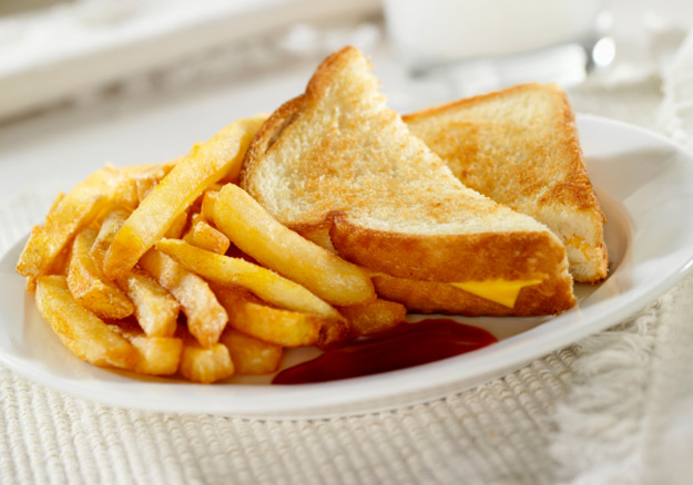Grilled Cheese With Fries