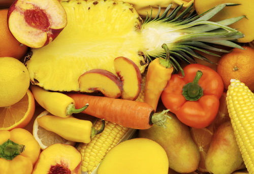 Orange Vegetables And Fruits Eat A Rainbow Everyday...