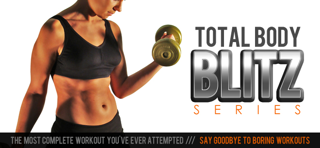 logo for total body blitz series