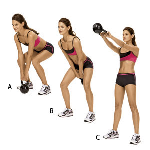Proper form is vital with the kettlebell swing.