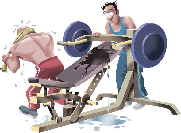 sweaty gym dquipment